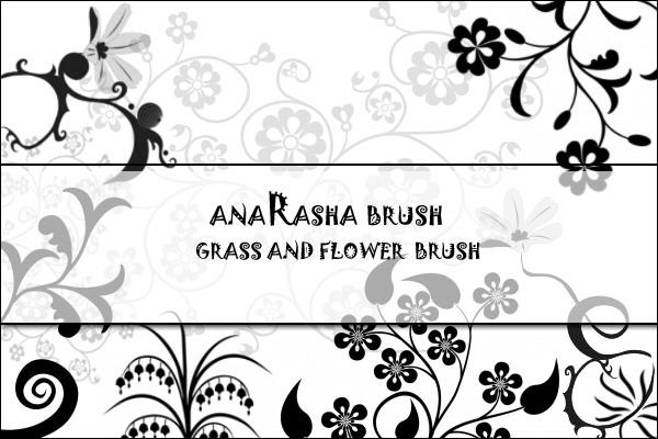 精美的鲜花植物花纹图案PS笔刷素材下载
