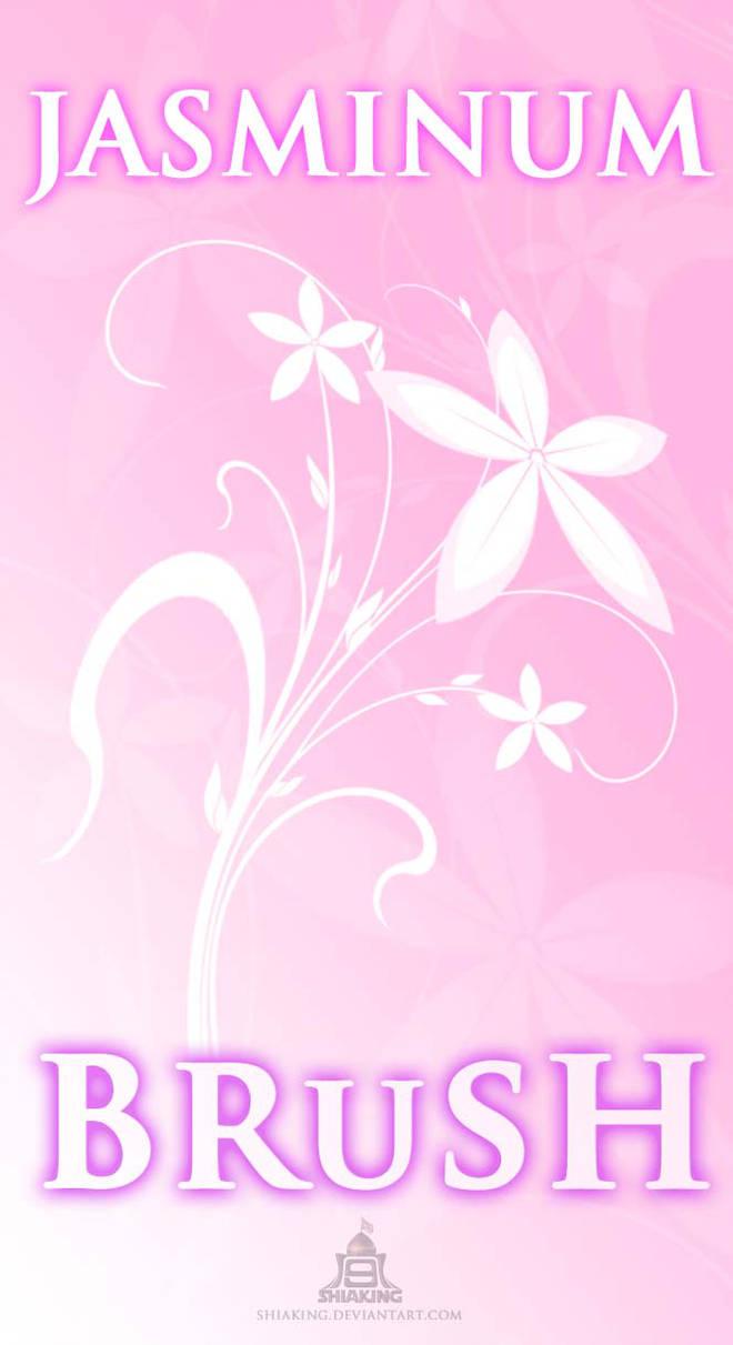 高雅的鲜花印花图案PS笔刷素材下载