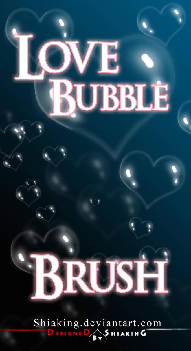 爱心气泡、水中的爱心泡泡PS笔刷下载