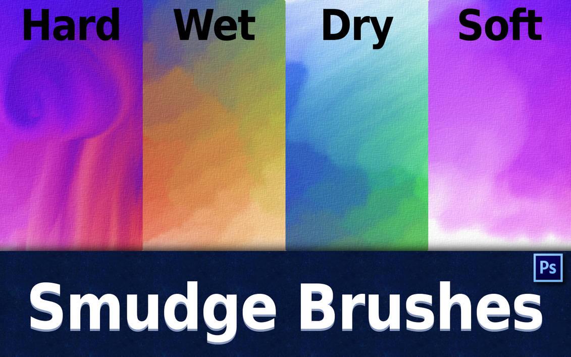 4种水墨涂抹纹理效果PS笔刷下载