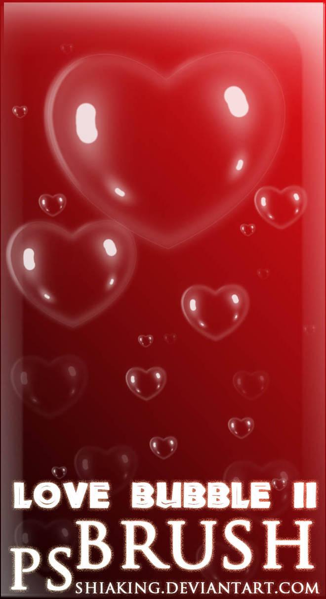 心形状气泡、爱心泡泡图案PS泡泡笔刷