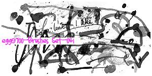 水墨、油漆液体滴溅痕迹PS笔刷下载