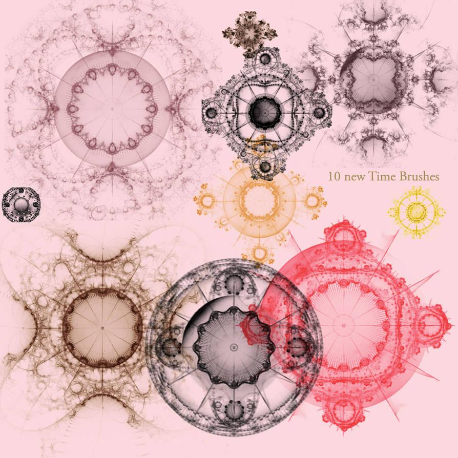 10种新世纪镜像花纹图案PS笔刷下载