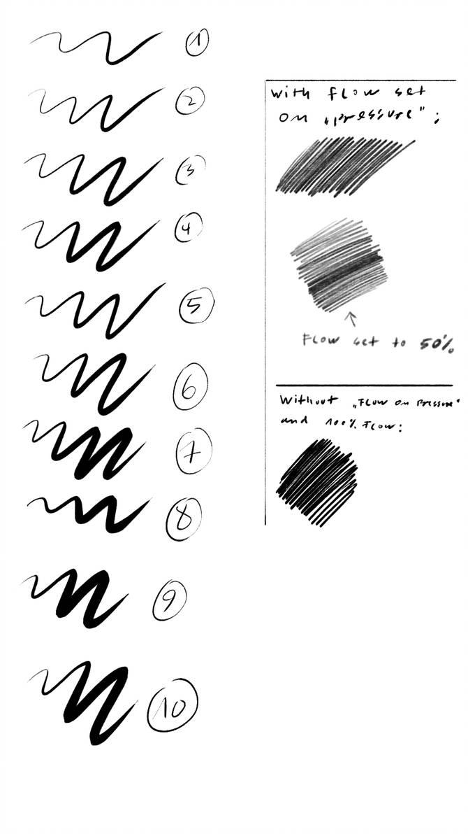 铅笔、碳素笔笔触纹理效果PS笔刷素材下载