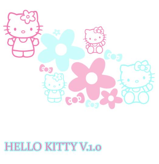 超可爱的Hello Kitty、呆萌卡通猫咪Photoshop笔刷素材
