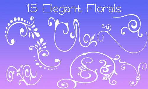 15种漂亮的植物花卉印花图案PS笔刷下载