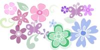 漂亮的植物鲜花花朵、印花装饰PS笔刷下载