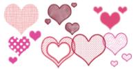 情人节卡通爱心、心形图案PS恋爱笔刷