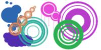 时尚圆圈、同心圆几何图像PS装饰笔刷