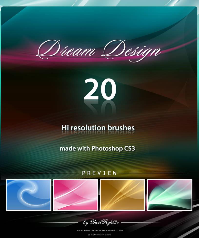 20种科技化炫光背景效果PS笔刷素材