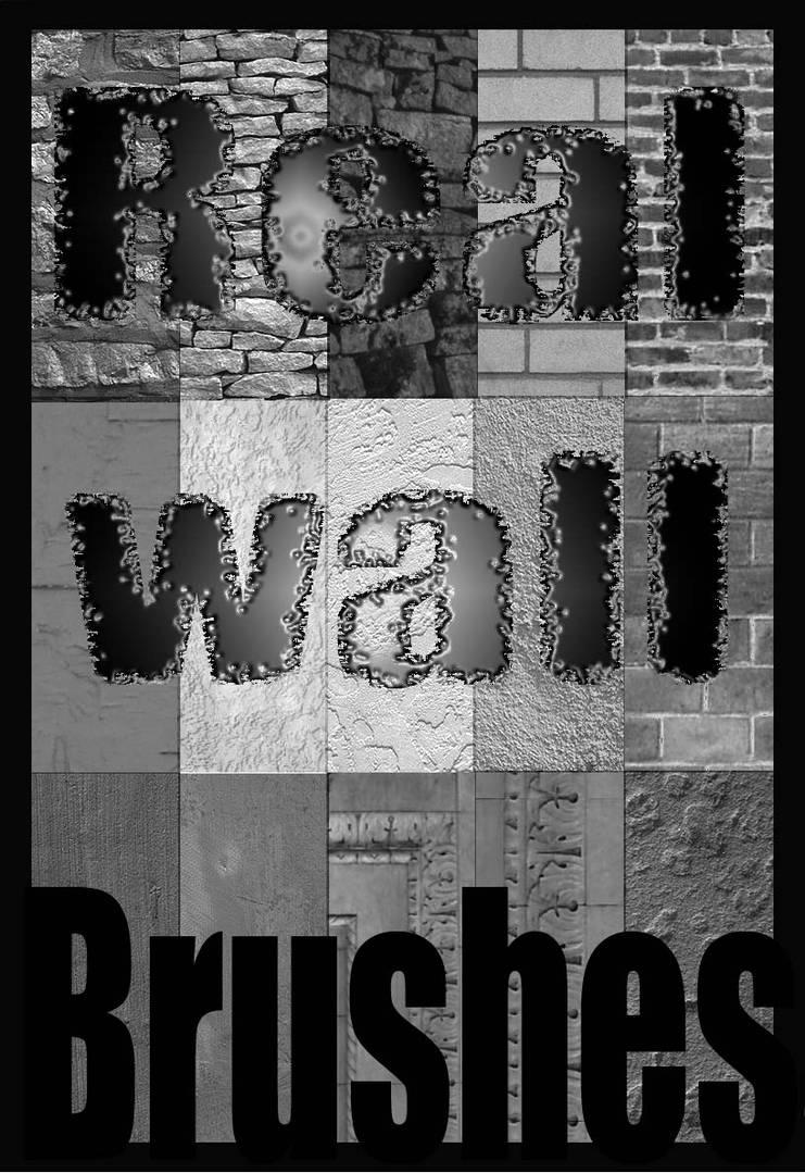 砖墙纹理、墙面纹理、水泥墙表面PS笔刷素材