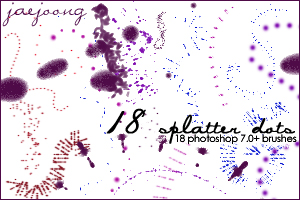 18种油漆、油墨污渍效果PS笔刷素材