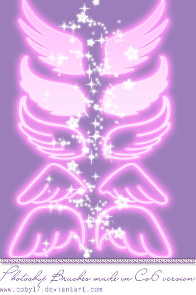 魔幻天使翅膀、梦幻天使羽翼PS手绘翅膀笔刷