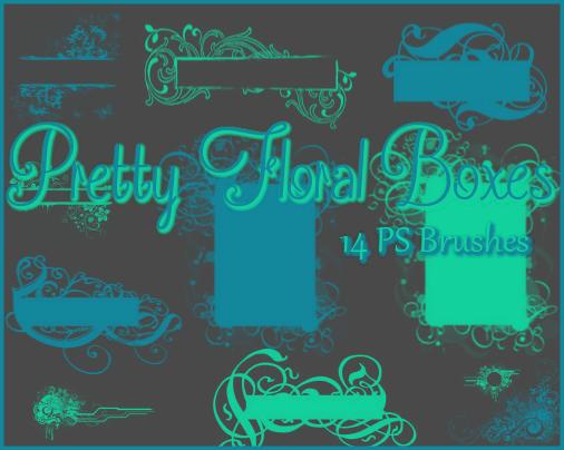 非主流艺术花纹边框背景装饰PS笔刷下载