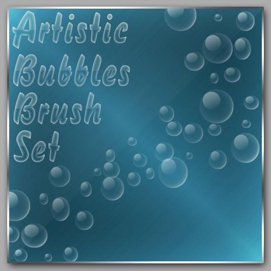 水中气泡、泡泡、肥皂泡泡、透明小球PS笔刷下载