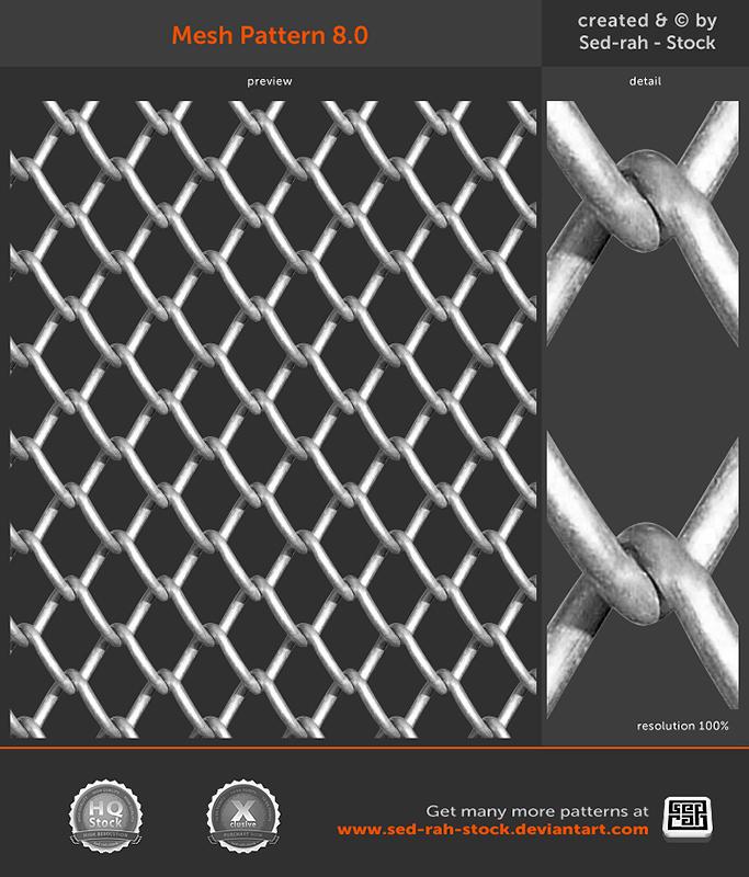 铁丝网、金属网纹理材质背景Photoshop填充图案文件底纹素材 .pat 下载