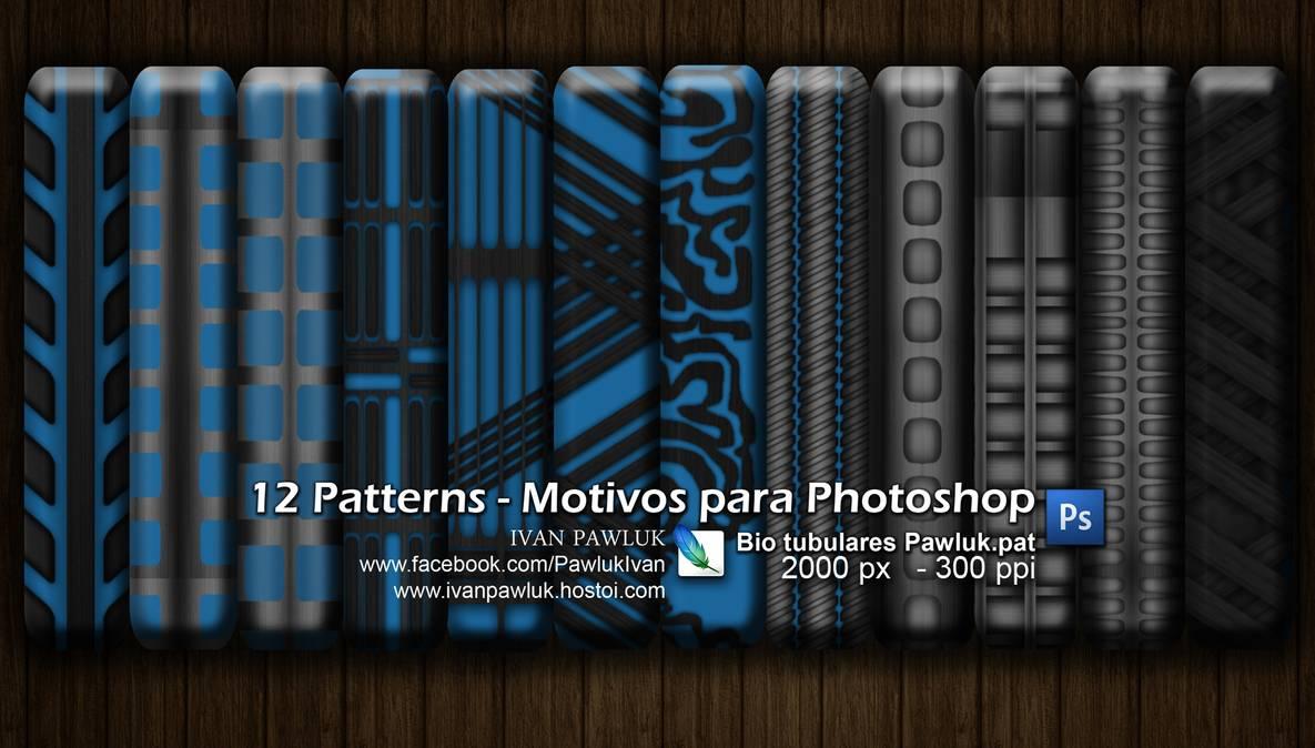 12种简单的怪异图案背景Photoshop填充图案底纹素材 Patterns 下载