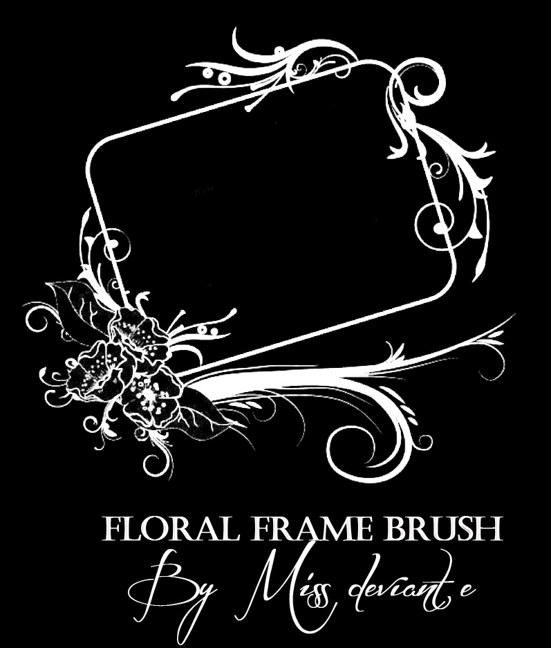 复古式花纹艺术边框、相框图案PS笔刷素材下载