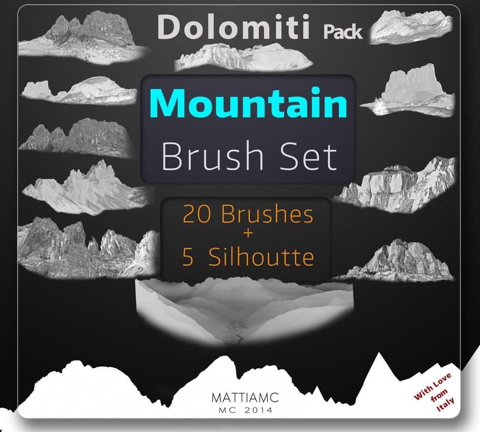 冰山、山地、冰川效果Photoshop地形笔刷