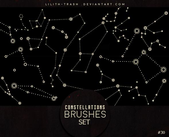星空星图、星座图背景PS笔刷下载