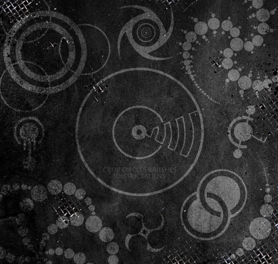 辐射废土、复古元素符号装饰Photoshop图案笔刷
