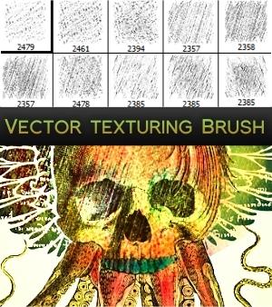 人造刻画、磨损材质纹理PS笔刷下载