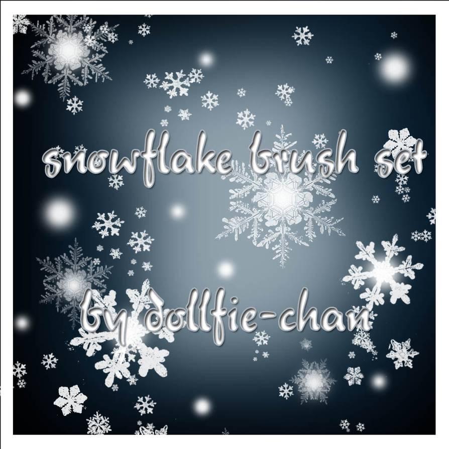 真实的雪花、冰晶图案PS下雪、飘雪笔刷素材