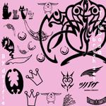 手绘皇冠、印花、刺青等图案PS笔刷