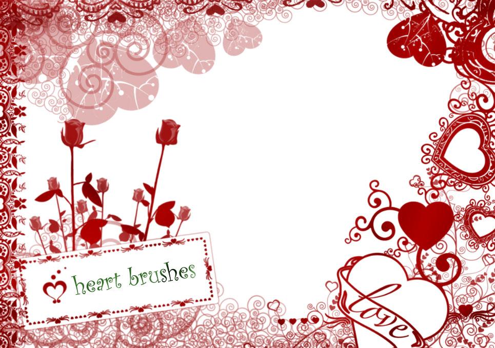 爱情、情人节、恋爱、爱心花纹印花PS笔刷下载