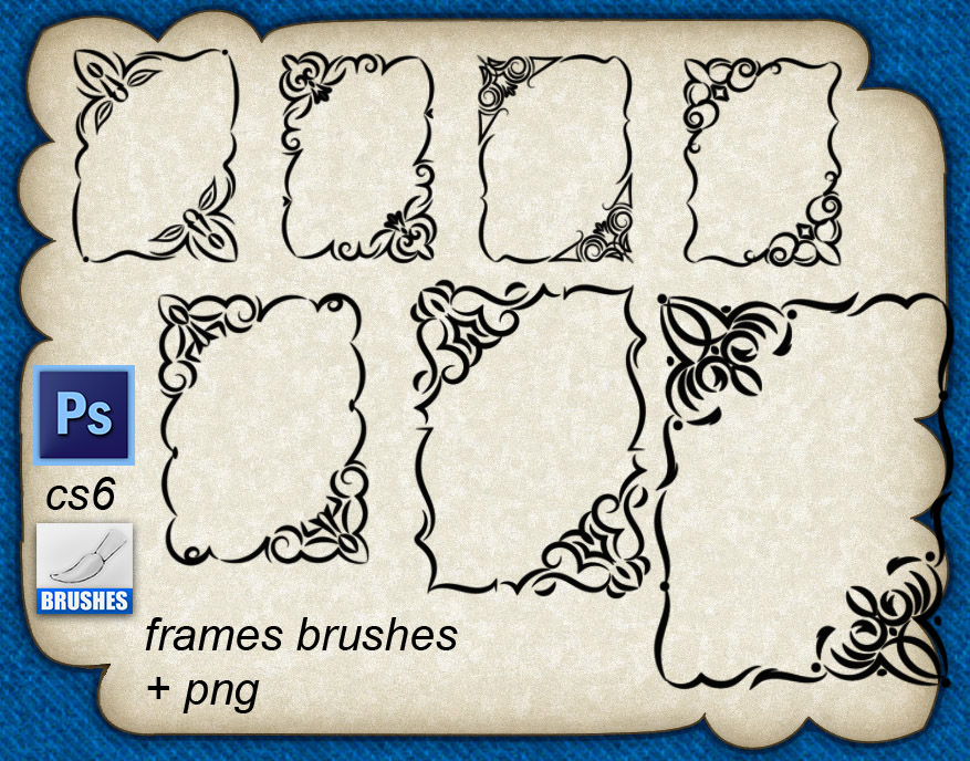 手绘精美的欧式边框艺术图案PS花纹笔刷
