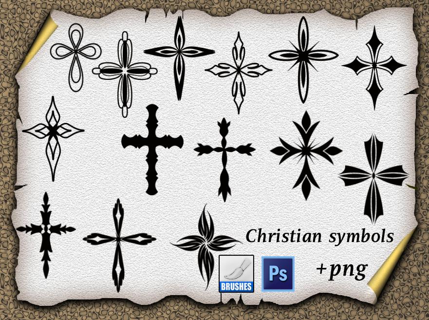 十字式印花图案PS笔刷素材下载