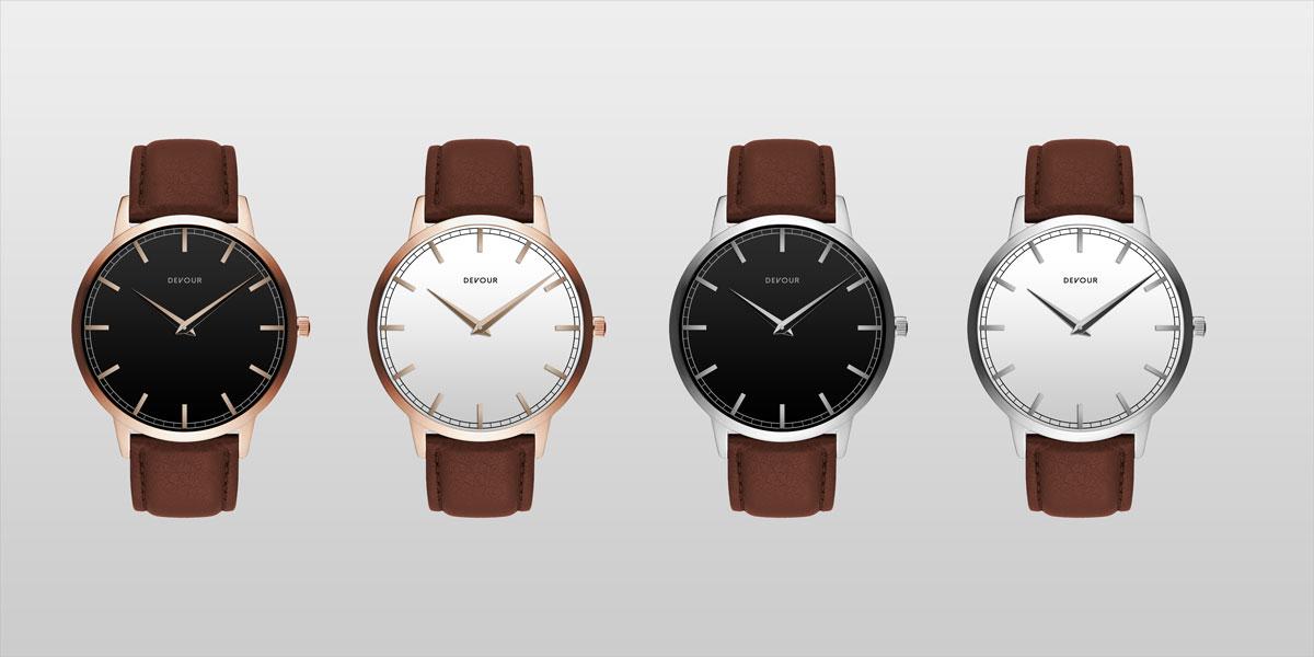 优雅高贵的皮带手表PSD模板素材下载