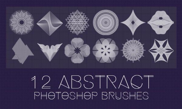 12种重叠的线条图形花纹图案PS笔刷下载