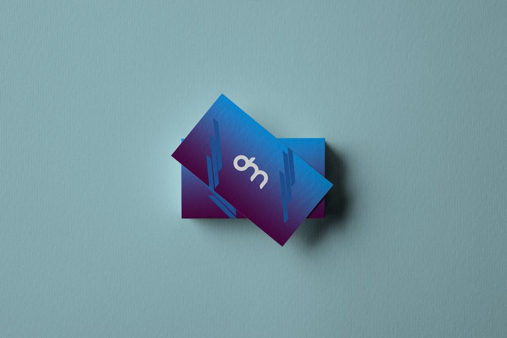 叠加的名片展示效果图PSD样机素材模板下载