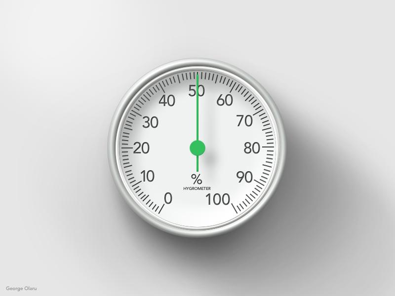指针表盘、湿度计、温度计PSD模板素材