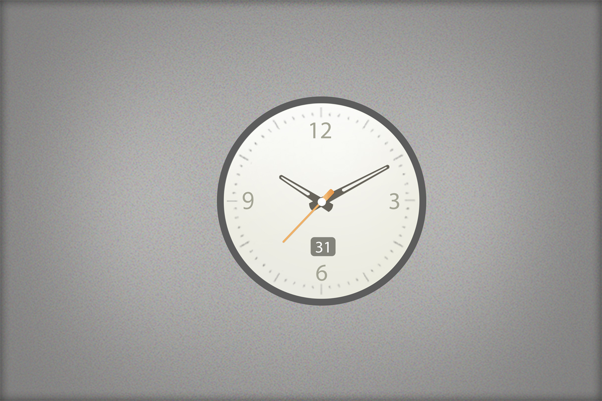 高清时钟PSD模板素材下载