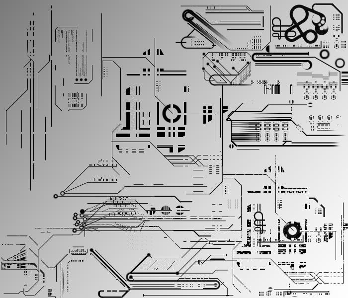 机械科技元素图案PS笔刷素材下载