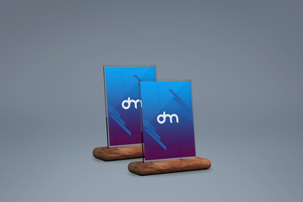 广告牌、相框、标牌PSD样机模板素材