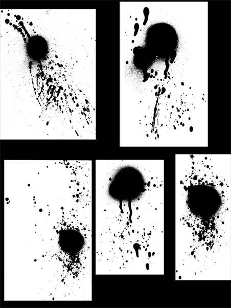 水墨、油漆滴溅、喷溅纹理PS笔刷素材下载