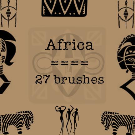 非洲式图腾印记PS笔刷素材