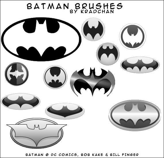 蝙蝠侠标志、蝙蝠图案PS笔刷下载