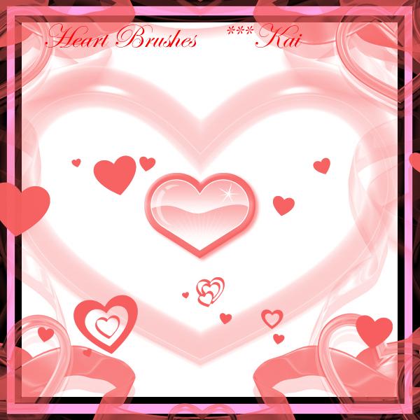 爱心、心形、恋爱元素PS笔刷素材