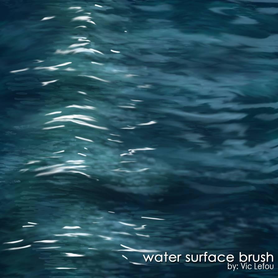 水面纹理、水面波光嶙峋材质PS笔刷下载