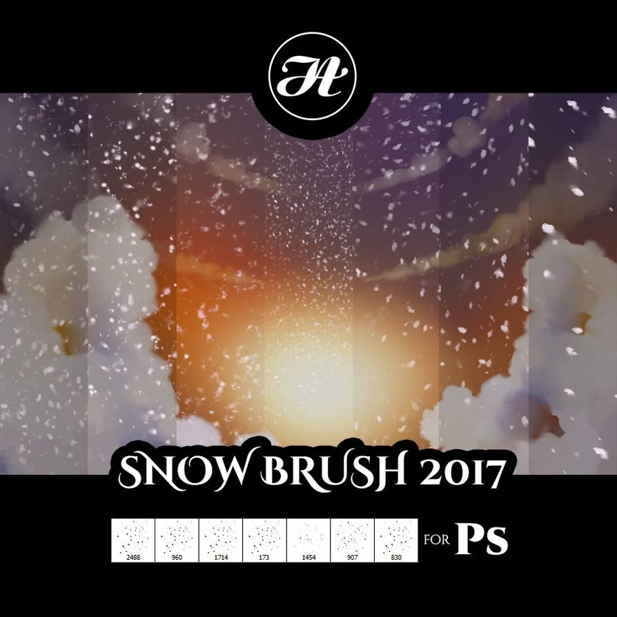 漫天雪花背景、下雪天气PS笔刷下载