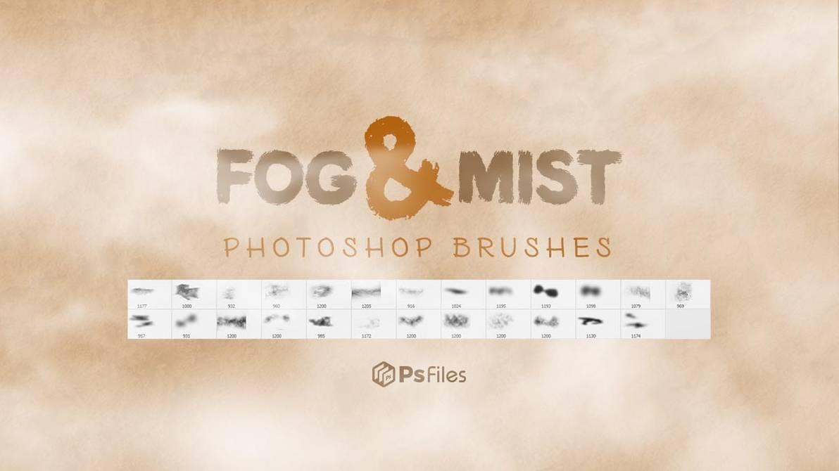 大雾天气、薄雾、浓雾弥漫效果PS环境笔刷