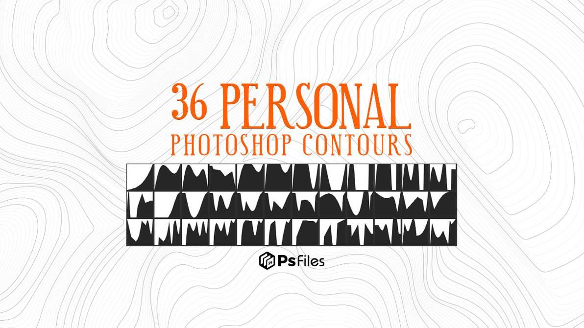 36种等高线、地形效果PS笔刷素材(.shc文件)