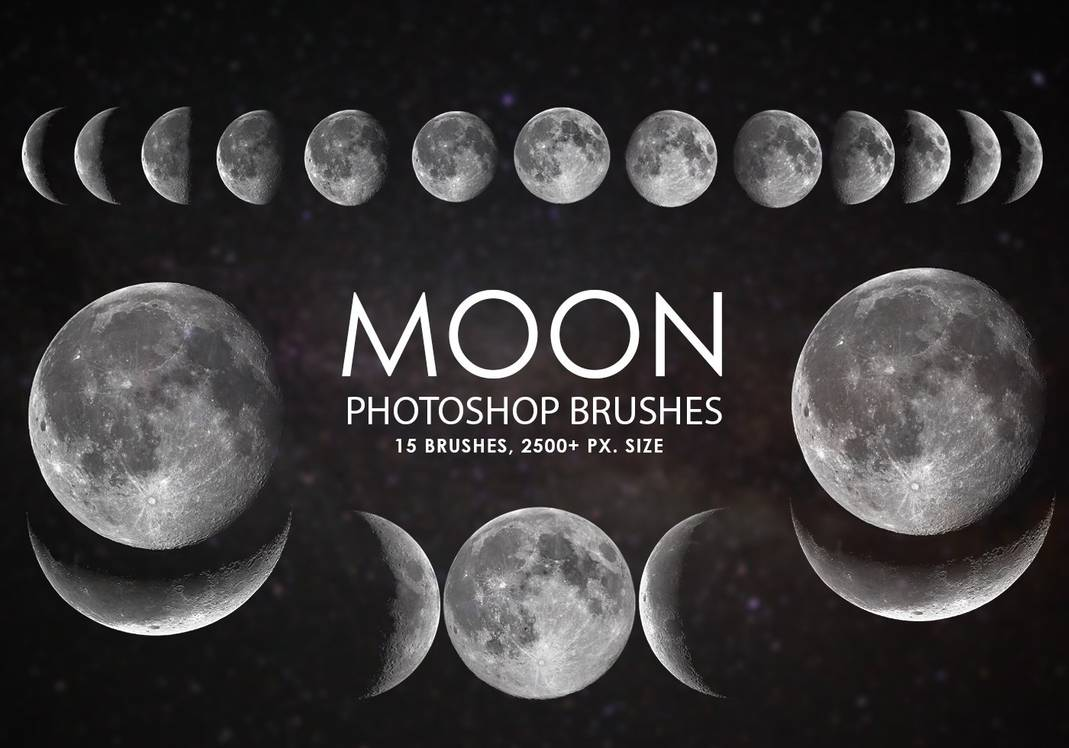 月食、月亮、圆月图案素材PS笔刷下载