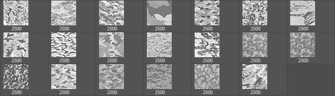 20种迷彩图案纹理PS笔刷下载