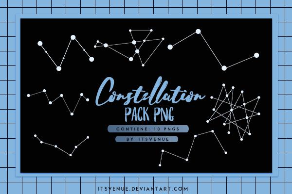 天空的星座图形PS美图笔刷(PNG素材格式)