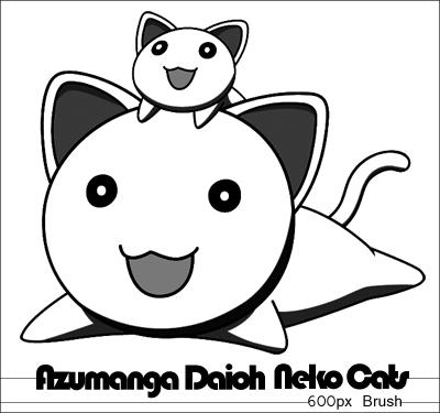 可爱猫咪图案PS笔刷素材